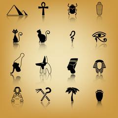 Ancient Egypt icon set