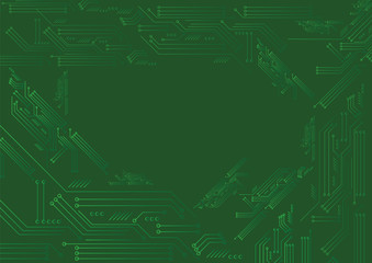 green electronic background