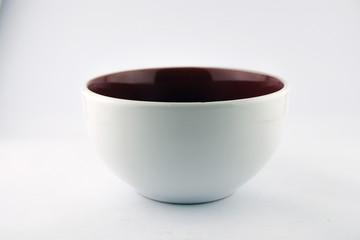 Empty plastic bowl