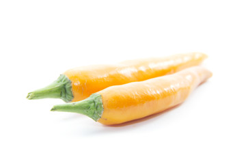 Orange chili pepper top view