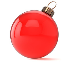 New Years Eve Christmas ball ornament red decoration