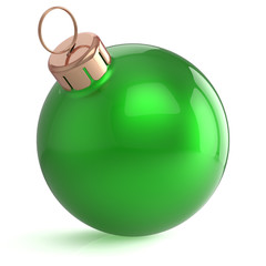 Christmas ball New Years Eve ornament decoration green