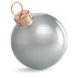Christmas ball New Years Eve ornament decoration silver chrome