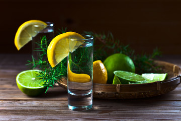 Gin with lemon