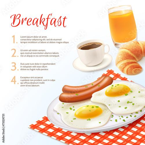 Breakfast Food Background - 75024731