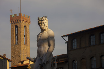 Firenze,Fontana del Nettuno.