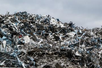 Aluminium Schrotthaufen