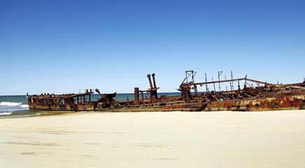 Schiffswrack auf Frazer Island, Australien