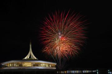 fireworks in dark night