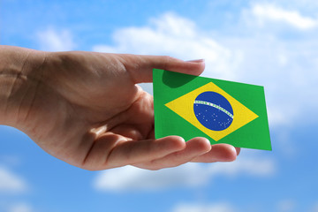 Small Brazilian flag