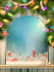 Christmas type design with snowflakes. EPS 10