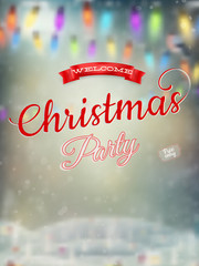 Christmas landscape Poster. EPS 10
