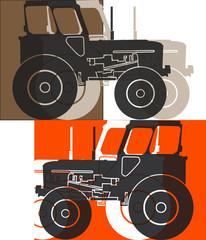 Tracteur agricole pop