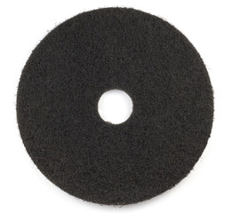 Black floor Pad scrub buff in White background