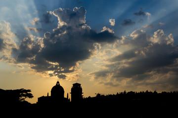 Silhouette of Verona - Italy