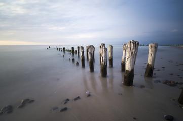 Morskie falochrony nad Bałtykiem