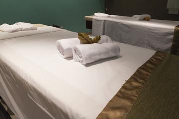 massage table in hotel interor