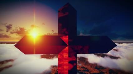 Christian Cross on a mountain