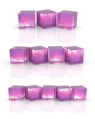 glass cube