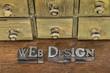 web design in metal type