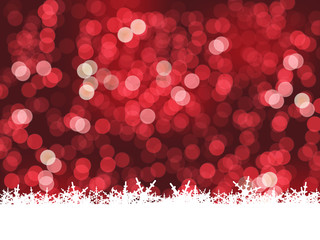 CHRISTMAS LIGHTS and SNOWFLAKES Background (merry happy)