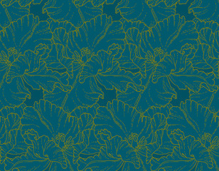 Seamless pattern with tulips