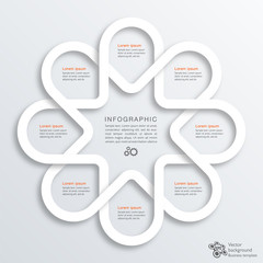 Infographics Vector Background 8-Step Process