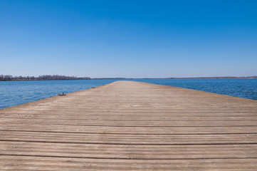 Background of the wooden pier on the lake