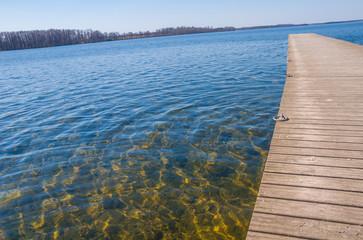 Wooden pier near the lake