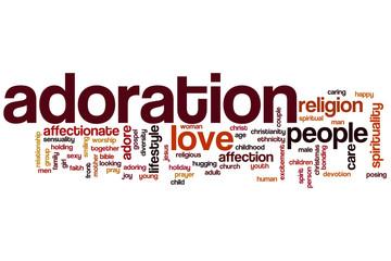 Adoration word cloud