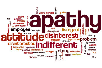 Apathy word cloud