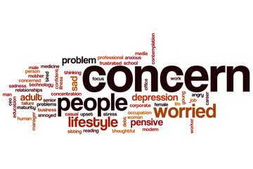 Concern word cloud