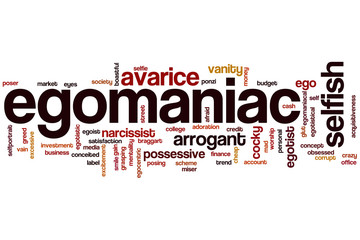 Egomaniac word cloud