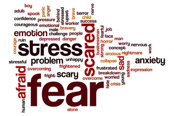 Fear word cloud