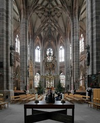 Interior of St. Lorenz Church in Nuremberg, Germany