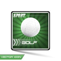 Golf sport vector icon