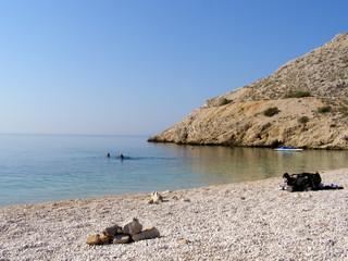 Secret beach, Krk island, Croatia