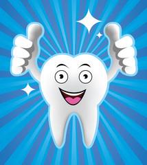 Cartoon Smiling tooth