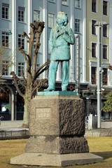 Monument to composer Edvard Grieg in Bergen