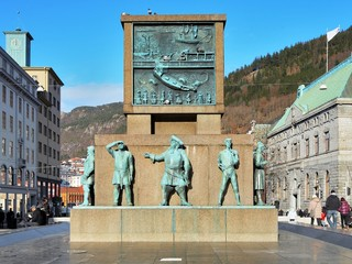 Monument to the sailors in Bergen, Norway