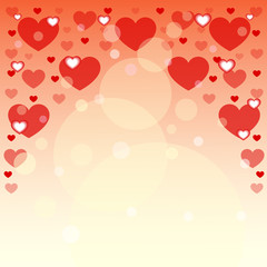Background of hearts for postcards. Vector illustration.