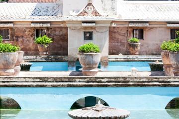 Sultan's bath - Water Palace, Taman Sari in Yogyakarta, Indonesi