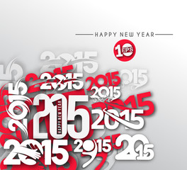New Year 2015 Text Design