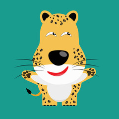 tricky leopard gartoon character
