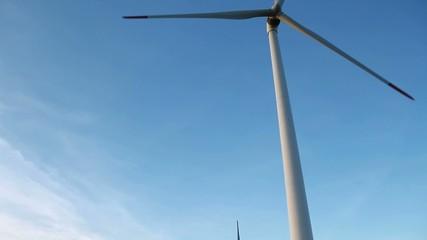 energy wind turbines and sky