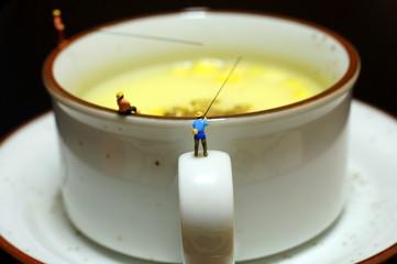 スープと釣り人
