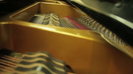 Inside of a Classical Piano as it is being played