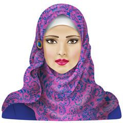 Muslim girl in hijab