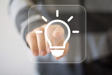Button idea bulb business web icon