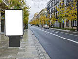 Fototapety blank billboard on the city street